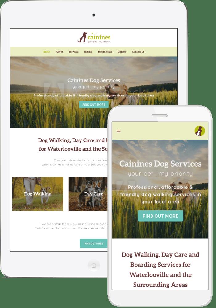 Cainines Dog Walking Services - WordPress website design