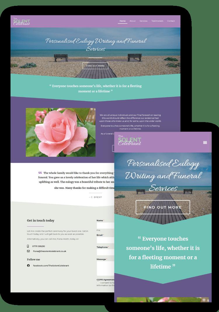 The Solent Celebrant WordPress Website Design