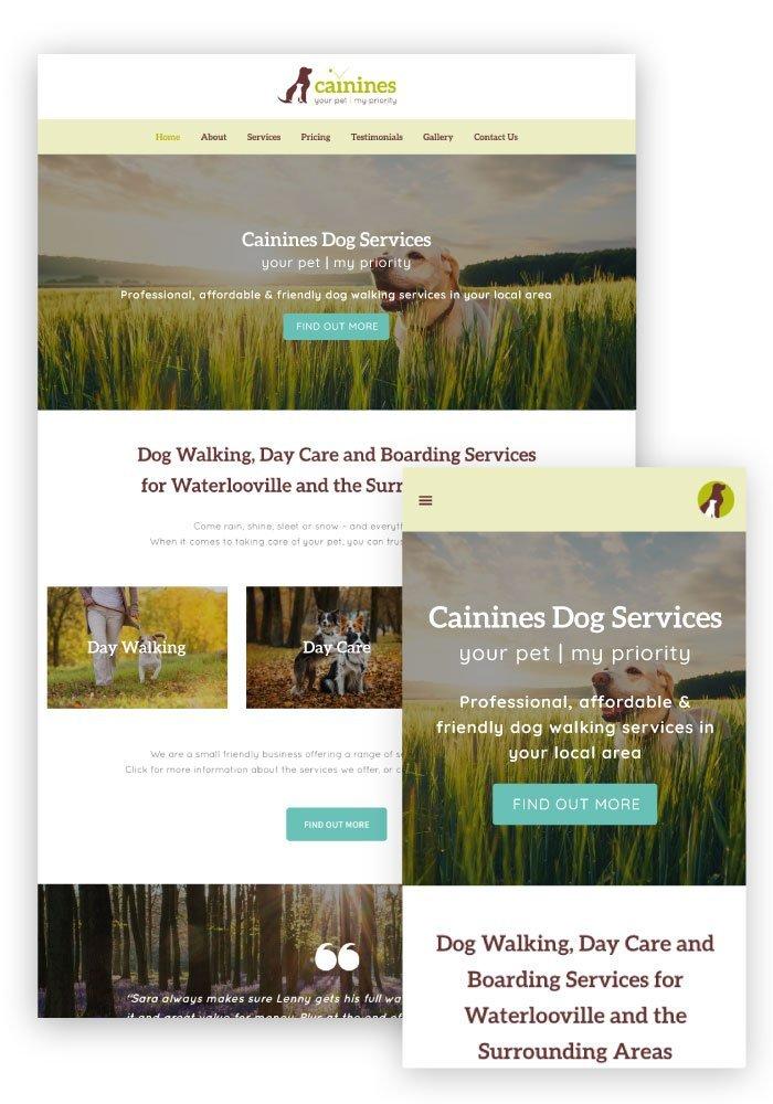 Heather Hulbert Designs Portfolio Client - Cainines Dog Services