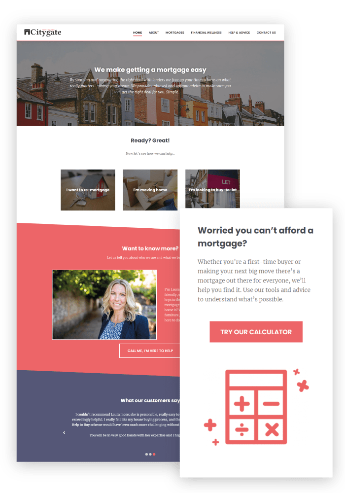 Citygate Mortgages Client WordPress Website Design