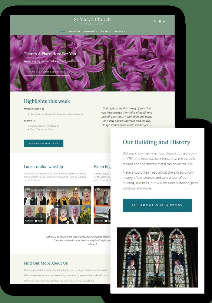 Heather Hulbert Designs Portfolio Client - St Mary's Church Speldhurst
