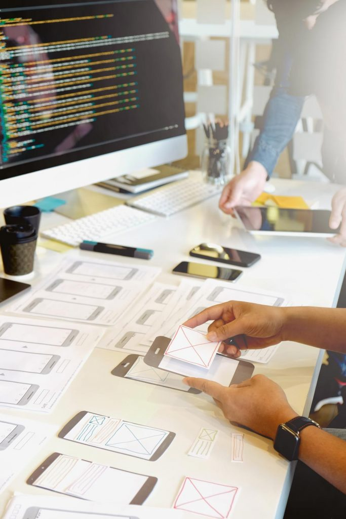 website design user experience care plans
